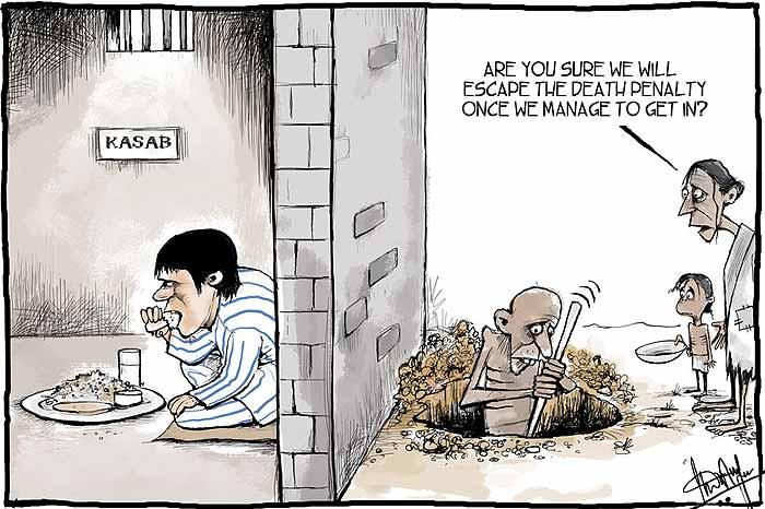 Ajmal Kasab Enjoying Biryani while poor India suffering