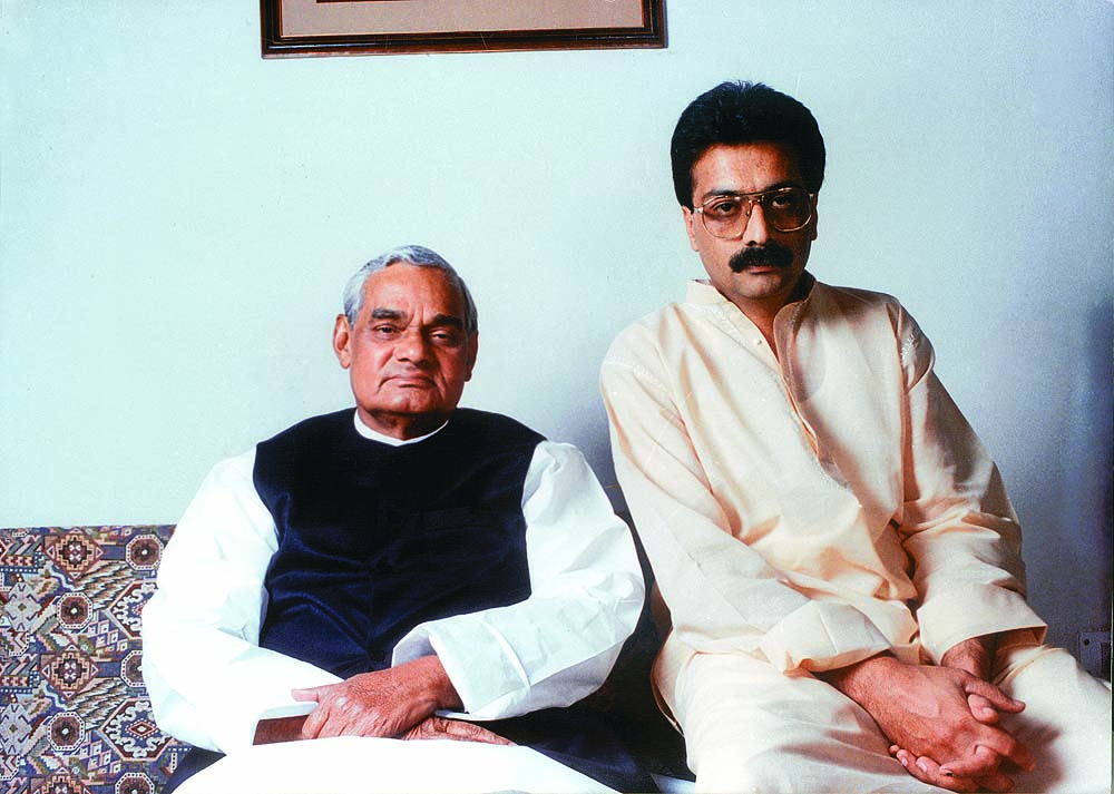 Vajpayee with Ranjan Bhattacharya